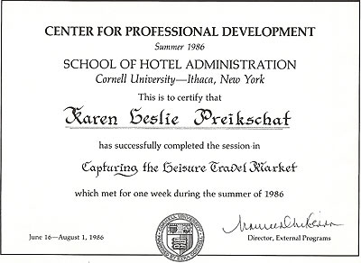1986 - Cornell School of Hotel Administration Capturing the Leisure Travel Market